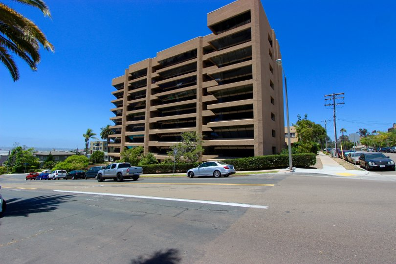 Nine story residential units at Brittany tower inside Downtown San Diego