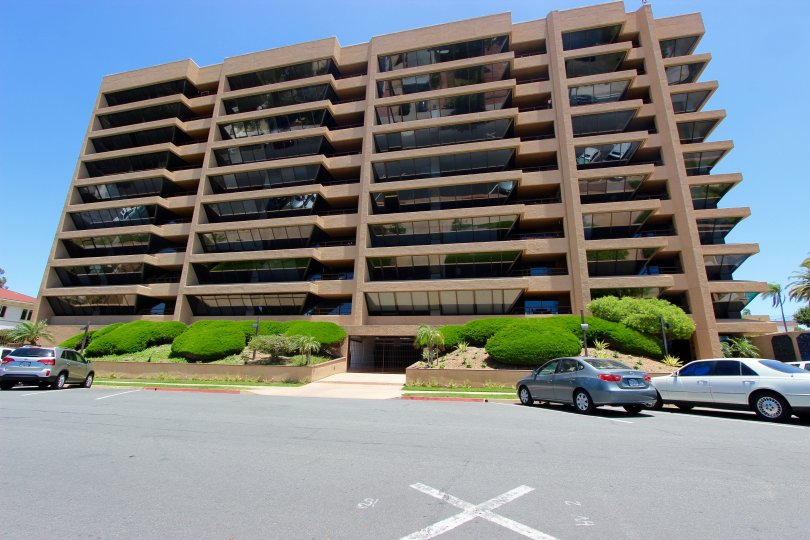 Brittany Tower is a large building with plenty of parking and a secured entrance in Downtown San Diego, California.