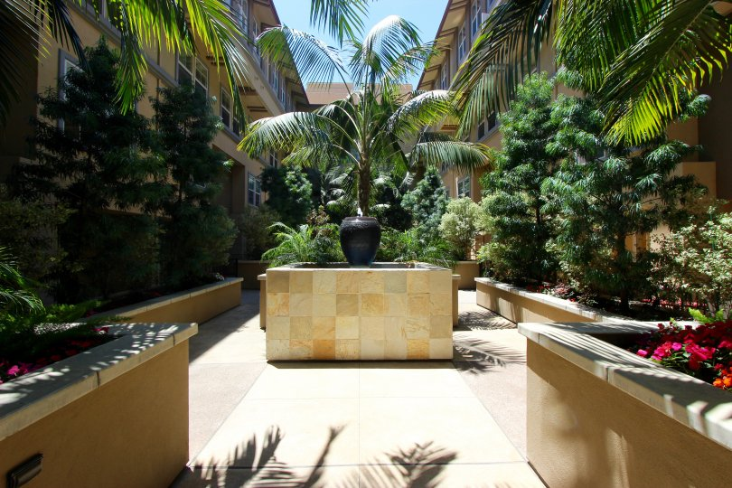 A garden in City Walk community of Downtown San Diego CA.