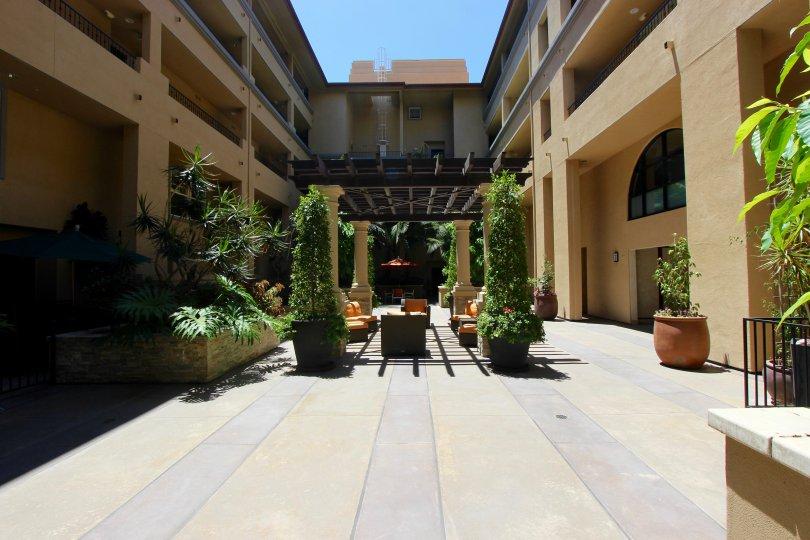 Beutiful atrium for enjoying gorgeous, sunny San Diego days at Citywalk.