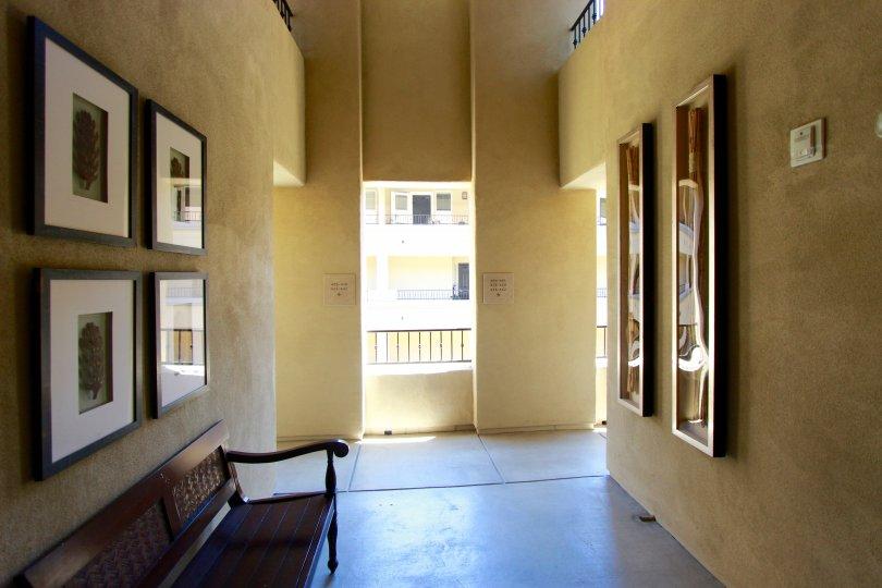 Well lit hallway of Citywalk Downtown San Diego, California