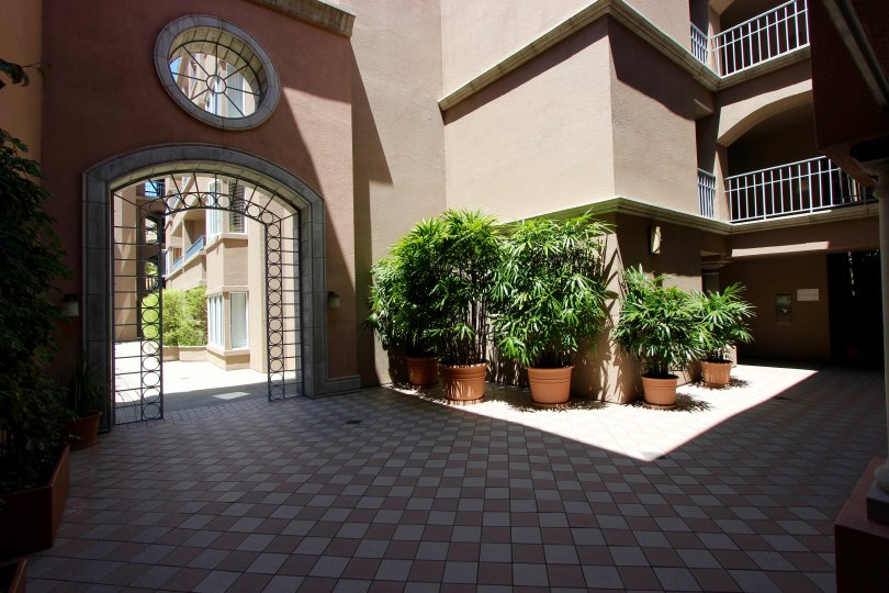 Sunny open tiled atrium entrance welcomes you home to Columbia Place.