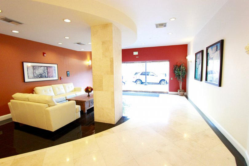 The Crown Bay lobby is a bright and inviting sanctuary in Downtown San Diego, California