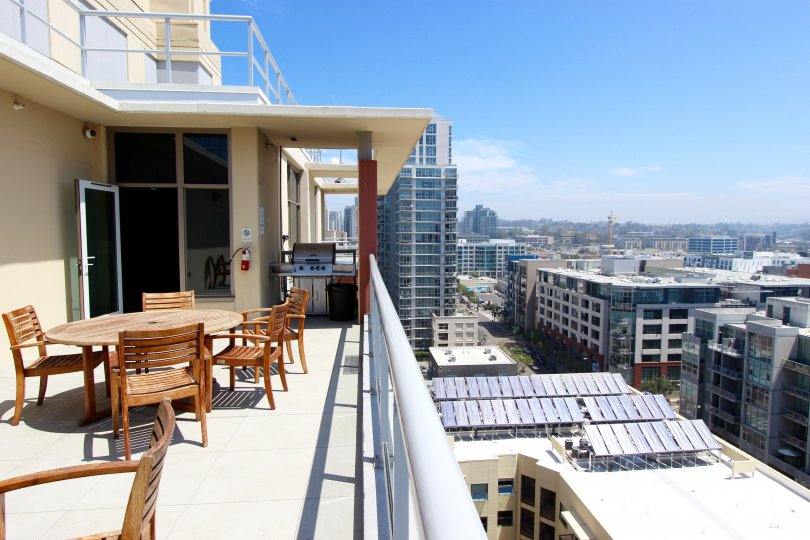 A beautiful balcony of Diamon Terrace in Downtown San Diego, CA