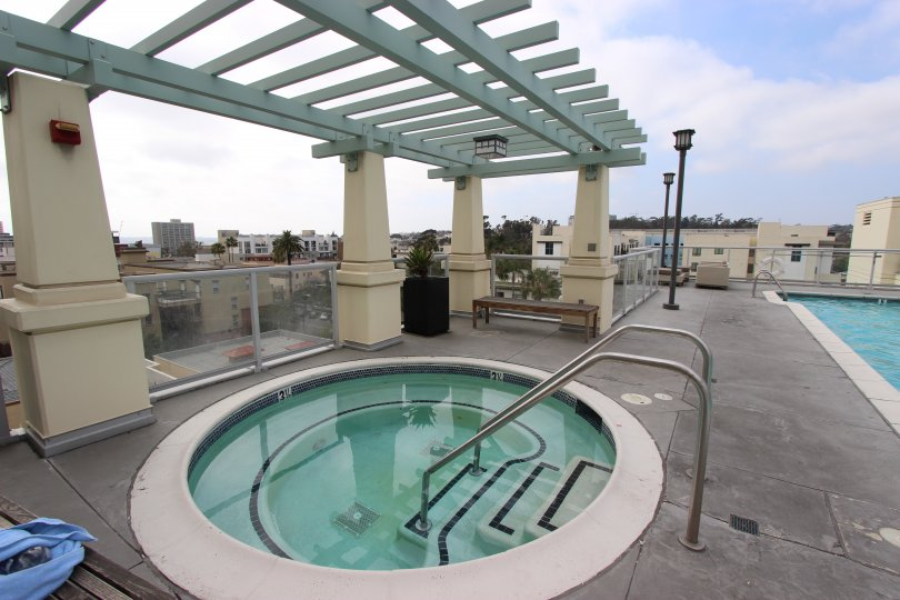 Secluded hot tub with breathtaking views at Discovery in Downtown San Diego, California