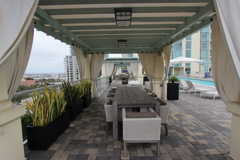 Beautiful relaxing patio location in the Discovery Community, Downtown San Diego, California