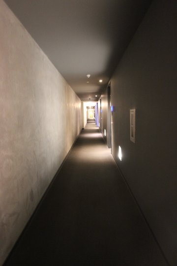 A hallway in a building in Fahrenheit Downtown San Diego CA.