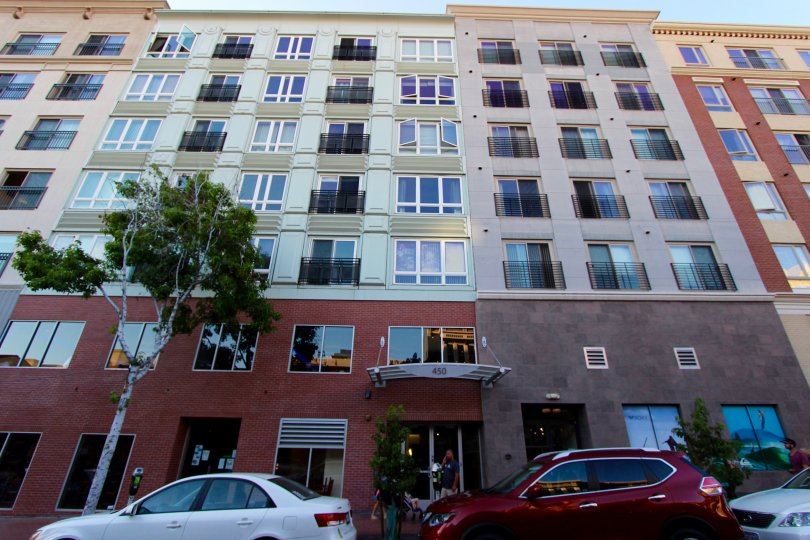 A large condo complex in the Gaslamp City Square in Downtown San Diego CA.