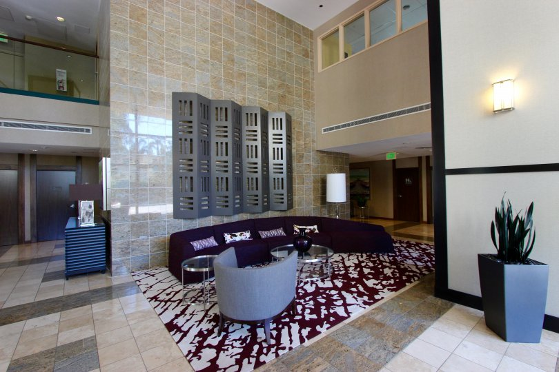 Nice and very clean lobby in Horizons Downtown San Diego California