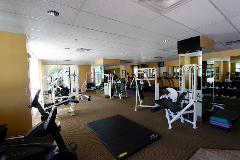 A gym in Horizons community of Downtown San Diego CA.