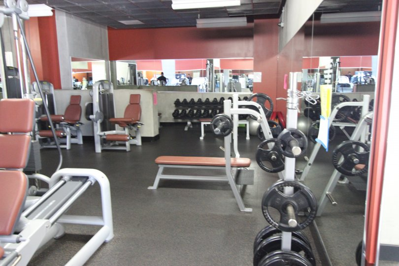 icon is a gym room of the downtowwn san diego in california