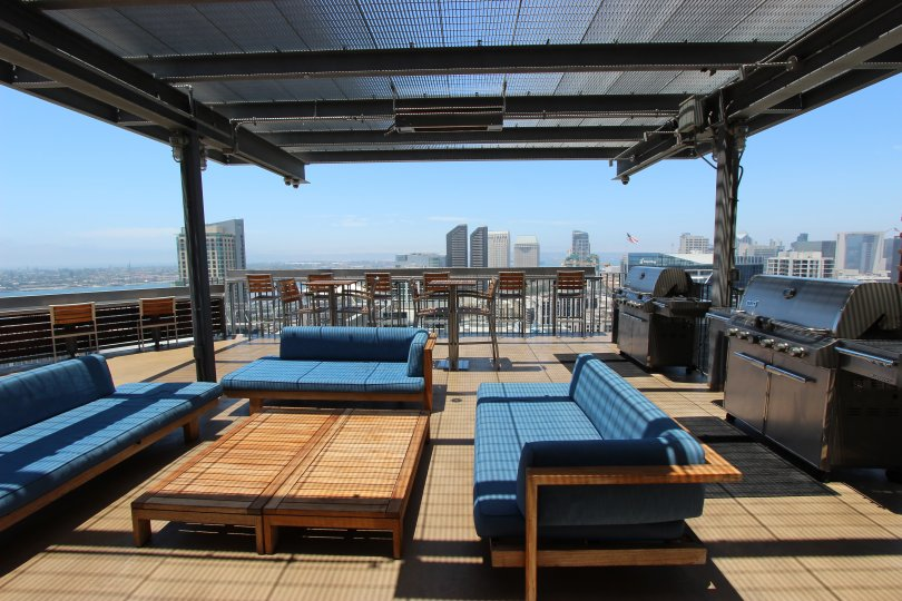 Roof top view of San Diego in Icon Community of San Diego, CA