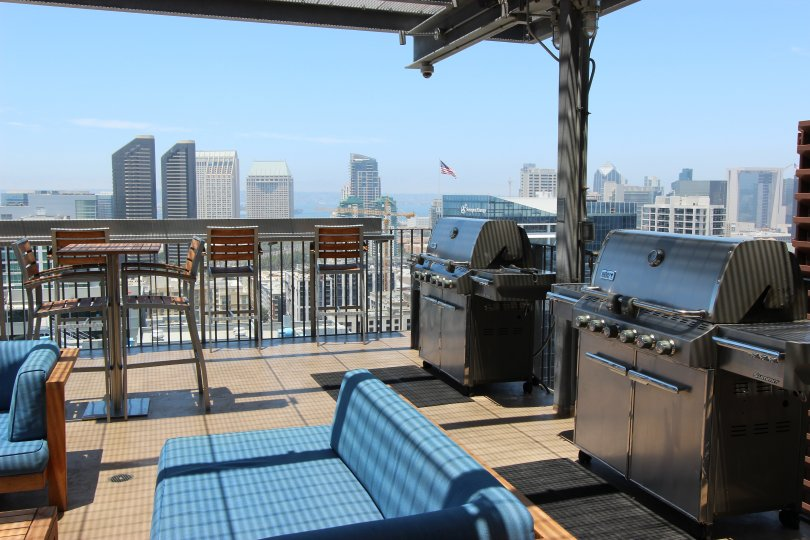 A rooftop setting in Icon, located in downtown San Diego, CA