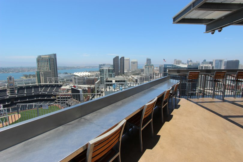 Beautiful view from restaurant seating in Icon in downtown San Diego