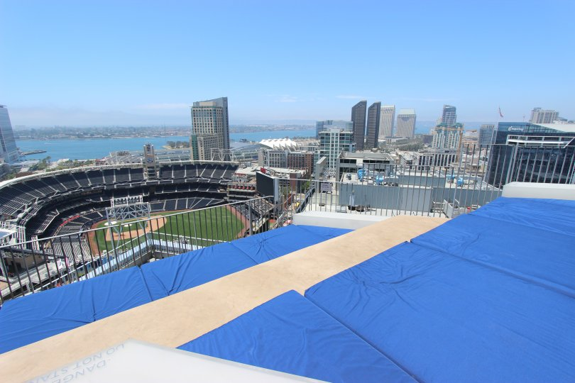 Icon View of Petco Park. Downtown San Diego, California.