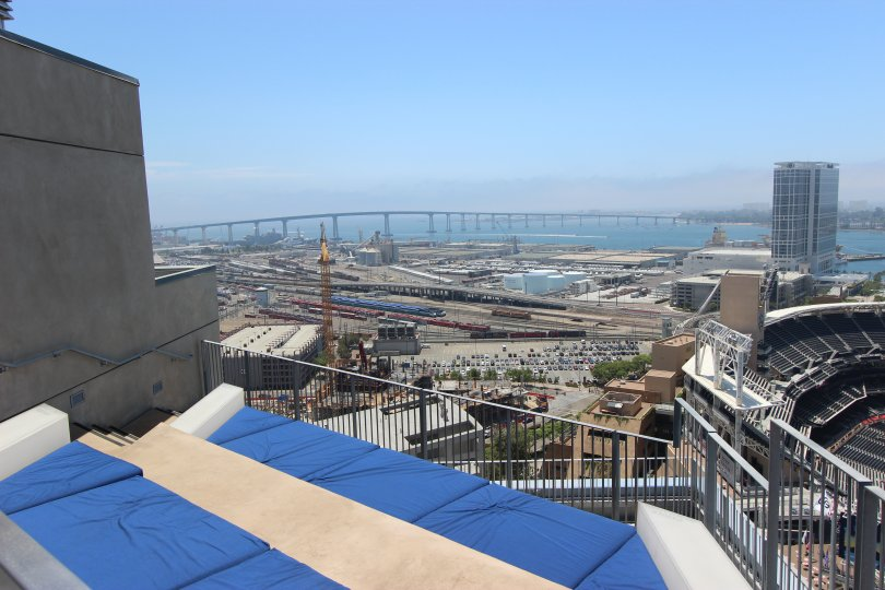 A view of the water from the Icon condominiums in Downtown San Diego, California