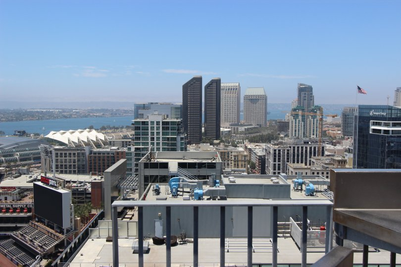 Beautiful shot of the skyline in downtown San Diego, California