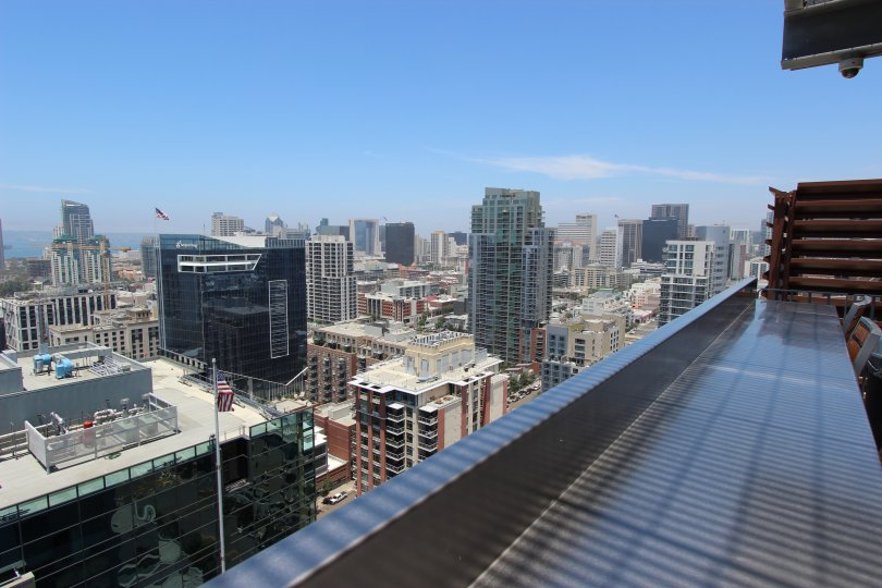 A beautiful view from the Icon condominiums in Downtown San Diego, California