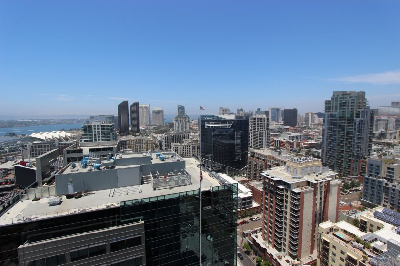 A beautiful upper view of the City in Icon of Downtown San Diego, CA