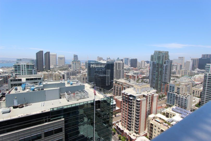 View of the city and bay on a beautiful day at Icon.