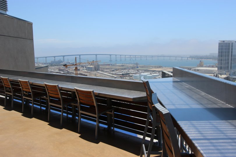 The bay beckons with the gorgeous view from the deck at Icon.