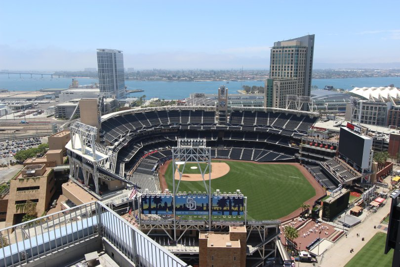 Watch the ballgame and sailboats in the bay from your view at Icon.