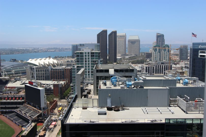Icon, City: Downtown San Diego, a nice city view and a water body