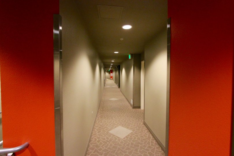 The Lovely La Vita Apartments in Downtown San Diego: Hallway