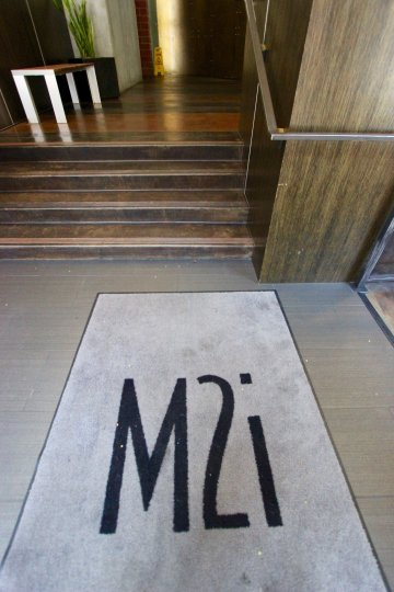 The Entrance way of the home which is located in the community M2i and have the plant and steps