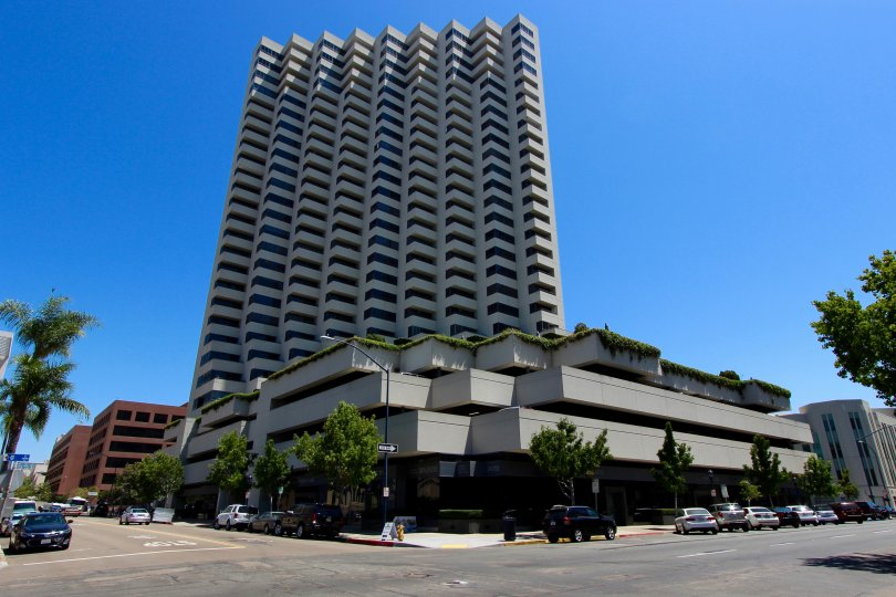 This interesting building in San Diego sits in the beautiful California sun