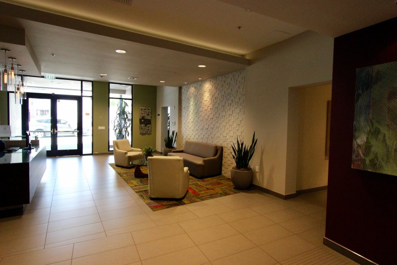 Very clean and nice lobby in Nexus Downtown San Diego California
