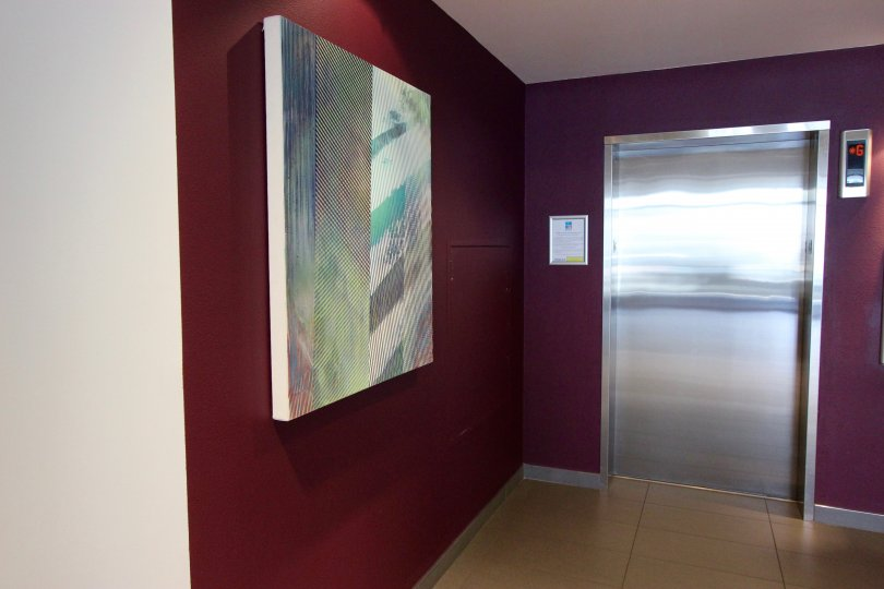 abstract painting located in beautiful nexus community!