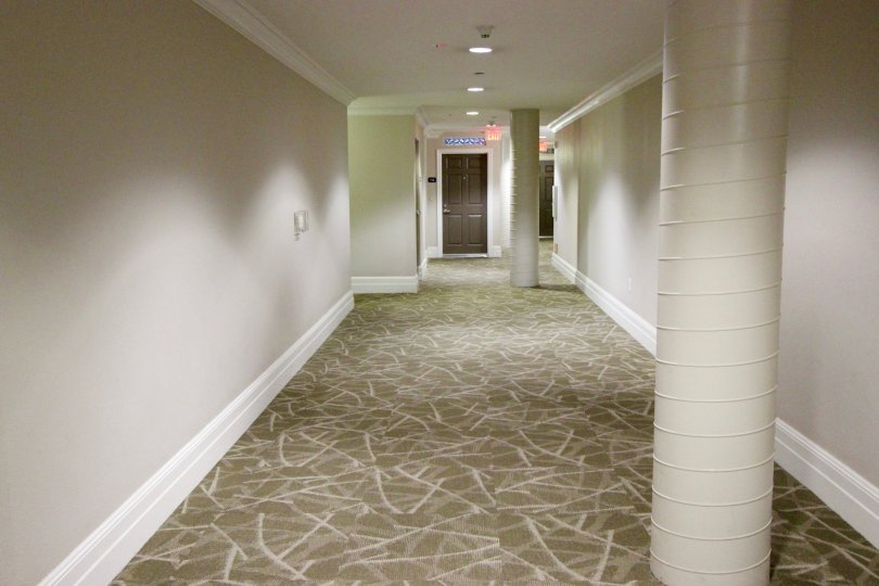 Interior hallways at Park Blvd East in downtown San Diego, California