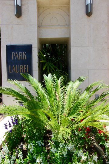 The front entrance to the Park Laurel community located in Downtown San Diego CA