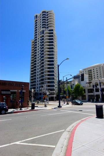 Super tall condominiums buildings at Park Place in Downtown San Diego CA