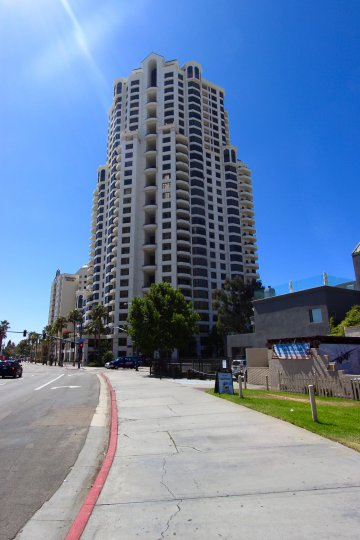Corner view of Park Place Downtown San Diego California