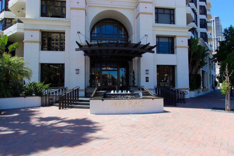 The entrance to Park Place will enchant you with the brick sidewalks and lovely features.