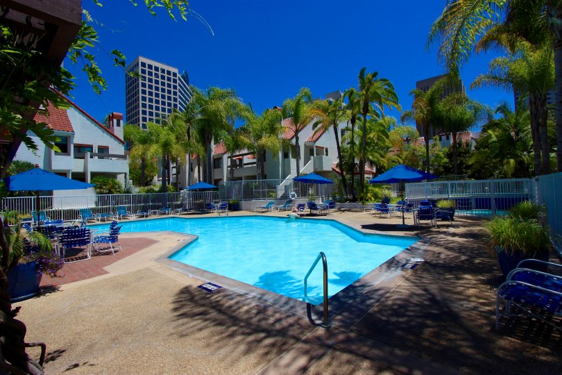 Big pool with lots of space in Park Row Downtown San Diego California