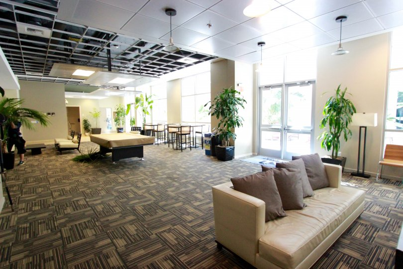 Bright common area for meeting friends at Park Terrace.