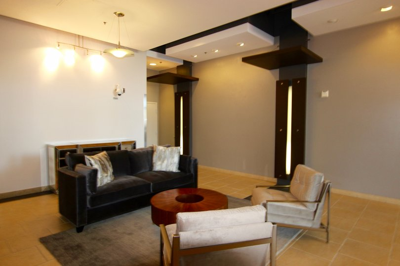 Quite lobby space at Park Terrace for reading and socializing with friends or family