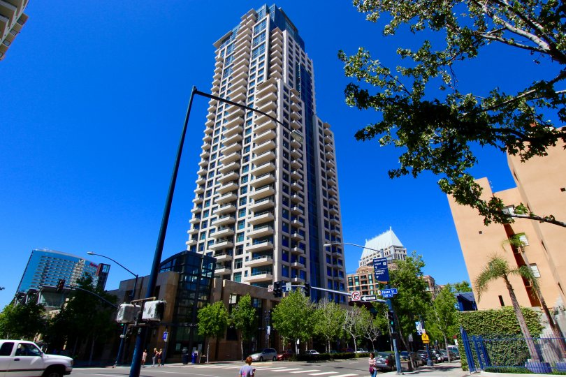 Extremely high condo building at Pinnacle in Downtown San Diego CA