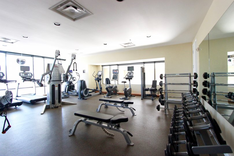 Get your workout in at the fitness center at Pinnacle.