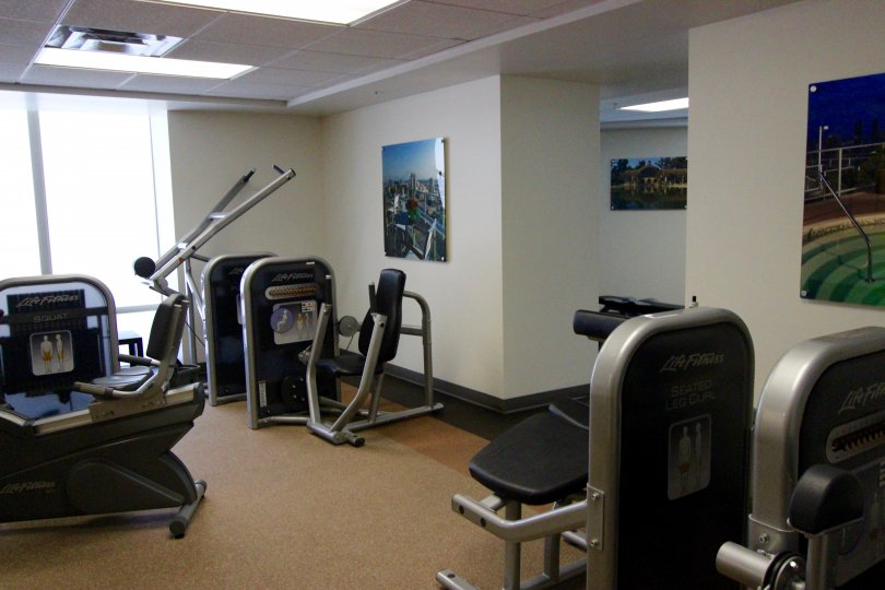 Very clean workout area in Smart Corner Downtown San Diego California