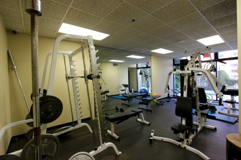 Stay in shape using the well-equipped fitness center at Symphony Terrace.