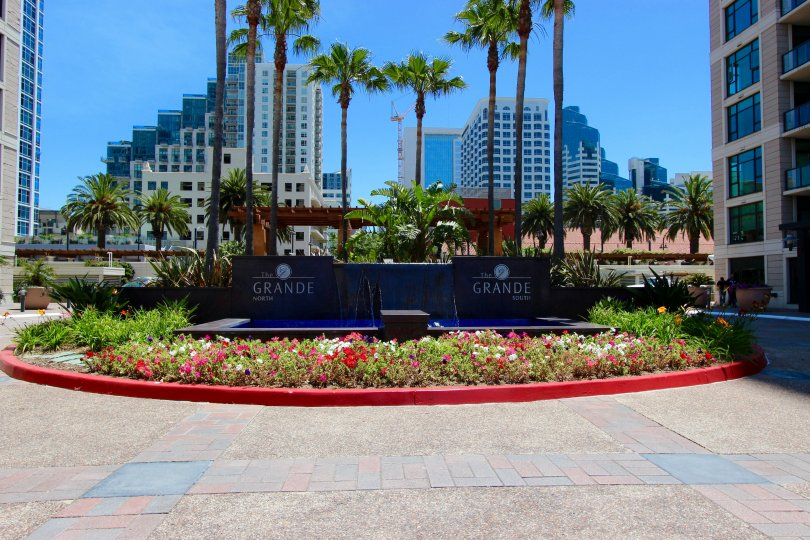 The Grande, City: Downtown San Diego, a nice space near the building and a small garden