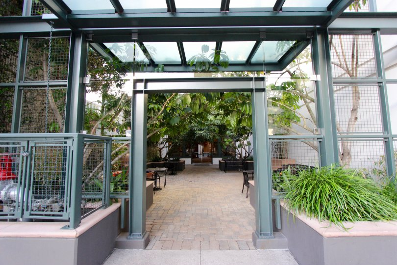 Botanical enclosed atrium for enjoying nature at The Legend.