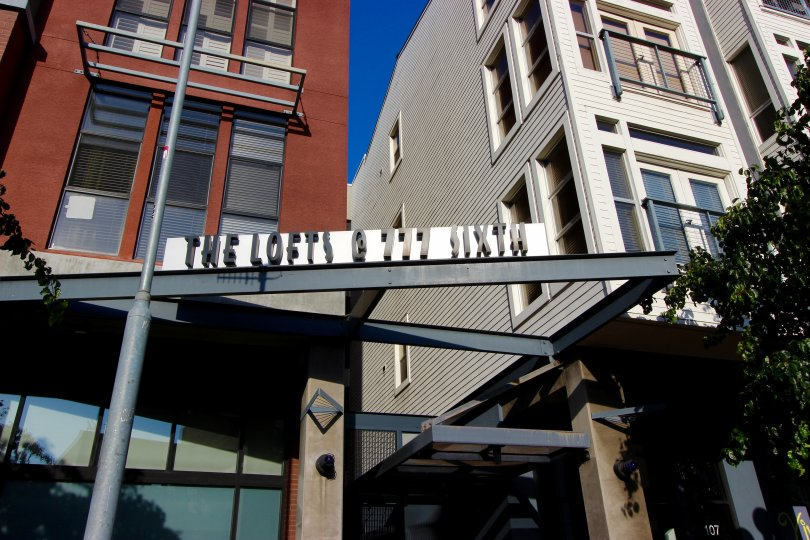 Four story condominiums inside The Lofts @ 777 Sixth in Downtown San Diego CA
