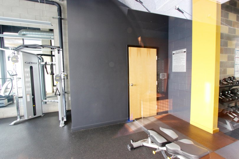Entrance to the Fitness Room at The Lofts @ 777 Sixth in Downtown San Diego, CA