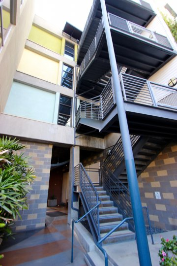 The Lofts @ 777 Sixth, City: Downtown San Diego, balconies and staircase