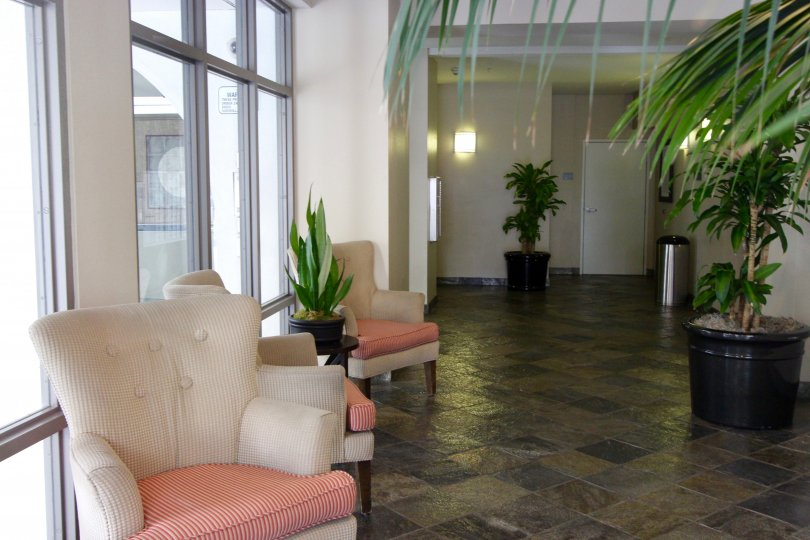 The Mills at Cortez Hill, City: Downtown San Diego, a nice seating with indoor plants and nice tiles with a nice windows